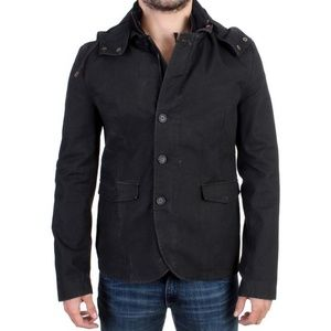 Costume National D10768-1 Gray Hooded Jacket